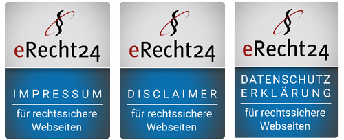 eRecht24 Sigel für rechtssichere Websites
